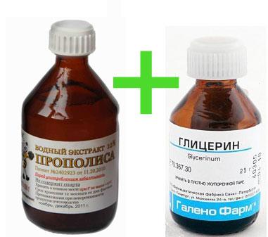 Глицерин и прополис