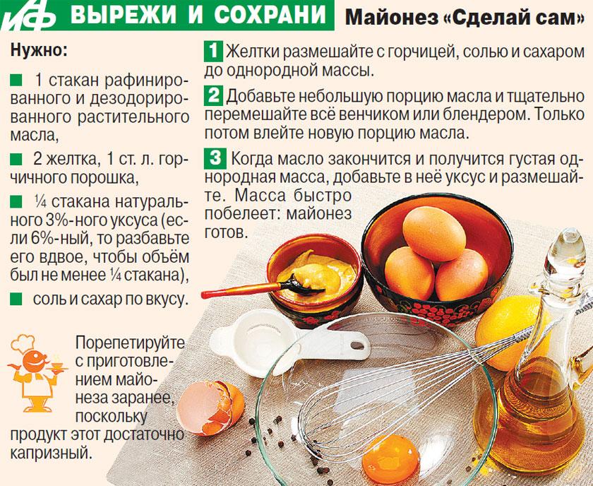 Рецепт настоящего горчичного майонеза