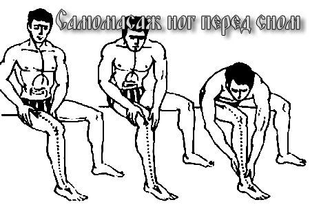 Самомассаж ног перед сном