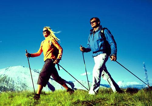 Скандинавская ходьба с палками 3