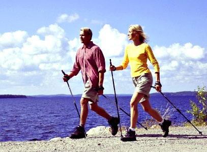 Скандинавская ходьба с палками 4
