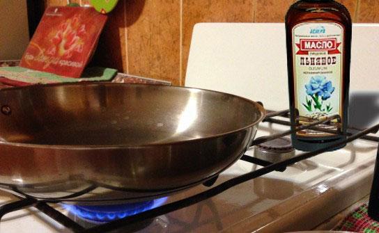 Сковорода и масло 6