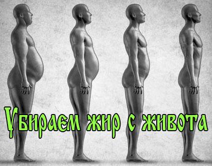 как убрать жир на животе упражнения видео
